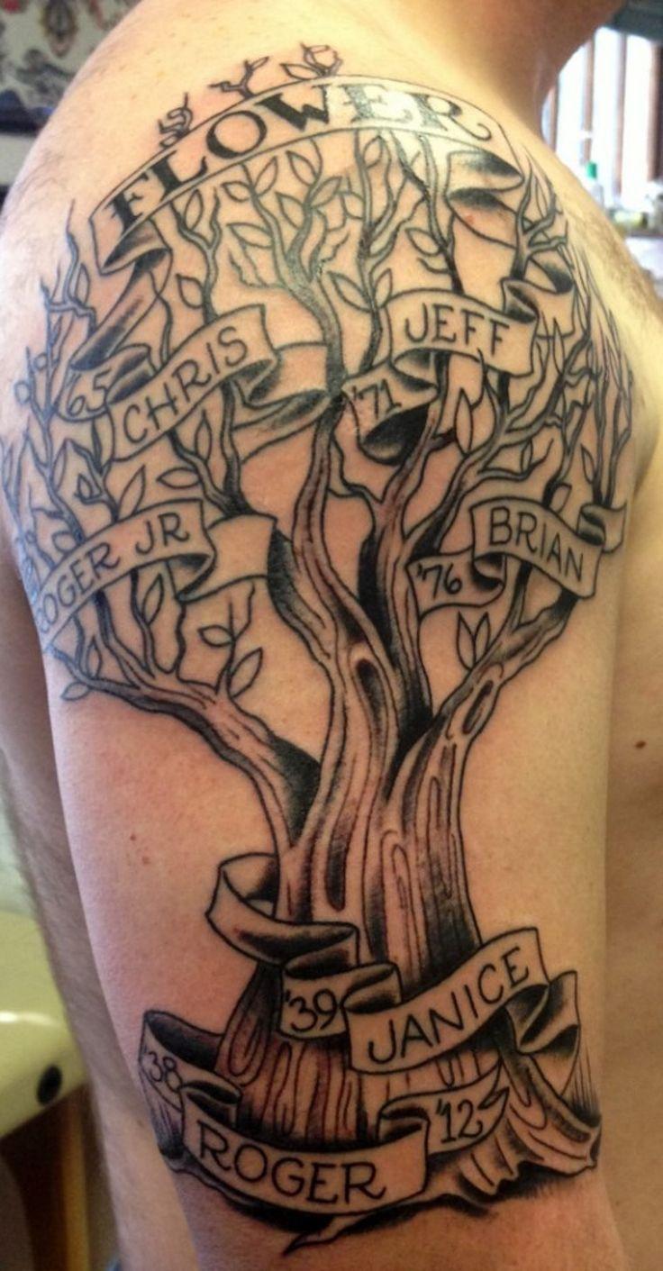 Family Tree Tattoo With Names (154)
