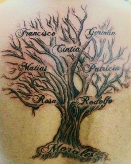 Family Tree Tattoo With Names (233)