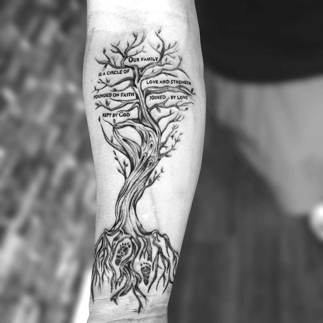 Family Tree Tattoo With Names (76)