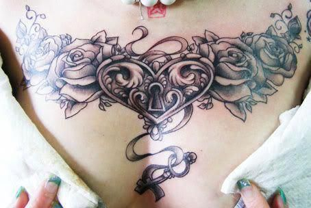 Female Chest Tattoo Pictures Ideas (103)