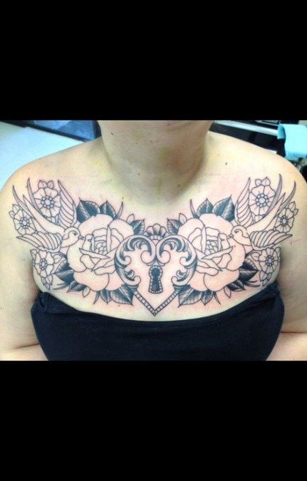 Female Chest Tattoo Pictures Ideas (113)