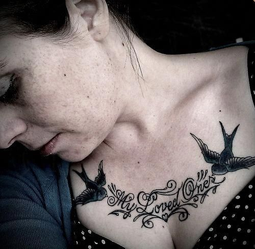 Female Chest Tattoo Pictures Ideas (164)