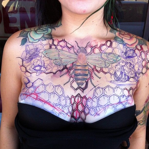Female Chest Tattoo Pictures Ideas (166)