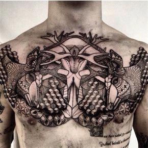Female Chest Tattoo Pictures Ideas (187)
