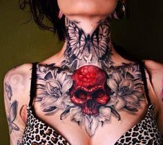 Female Chest Tattoo Pictures Ideas (199)