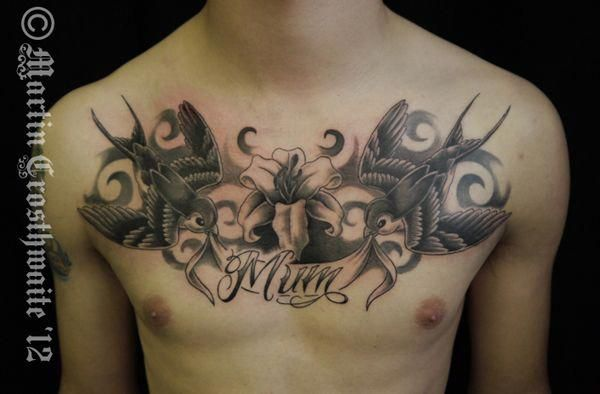 Female Chest Tattoo Pictures Ideas (224)