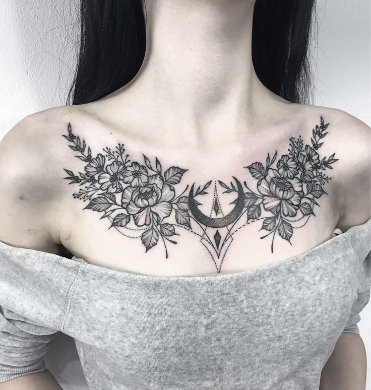 Female Chest Tattoo Pictures Ideas (28)