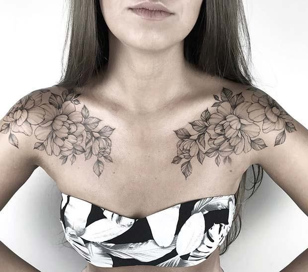 Female Chest Tattoo Pictures Ideas (7)