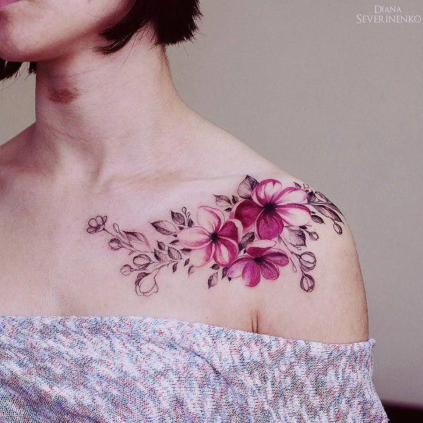 Female Chest Tattoo Pictures Ideas (79)