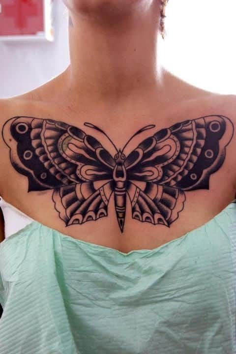 Female Chest Tattoo Pictures Ideas (92)