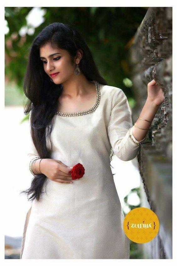 Latest Churidar Neck Models Salwar Patterns (14)
