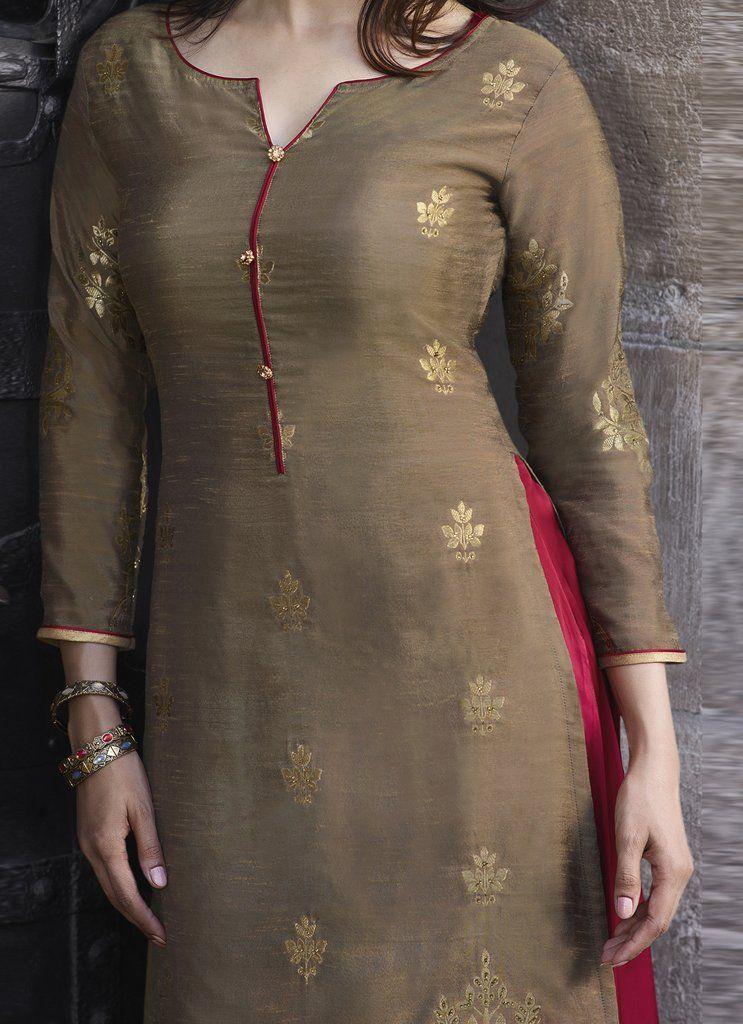 Latest Churidar Neck Models Salwar Patterns (150)