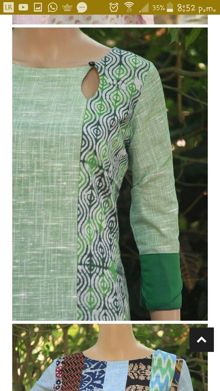 Latest Churidar Neck Models Salwar Patterns (156)