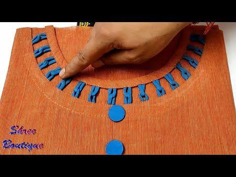 Latest Churidar Neck Models Salwar Patterns (199)