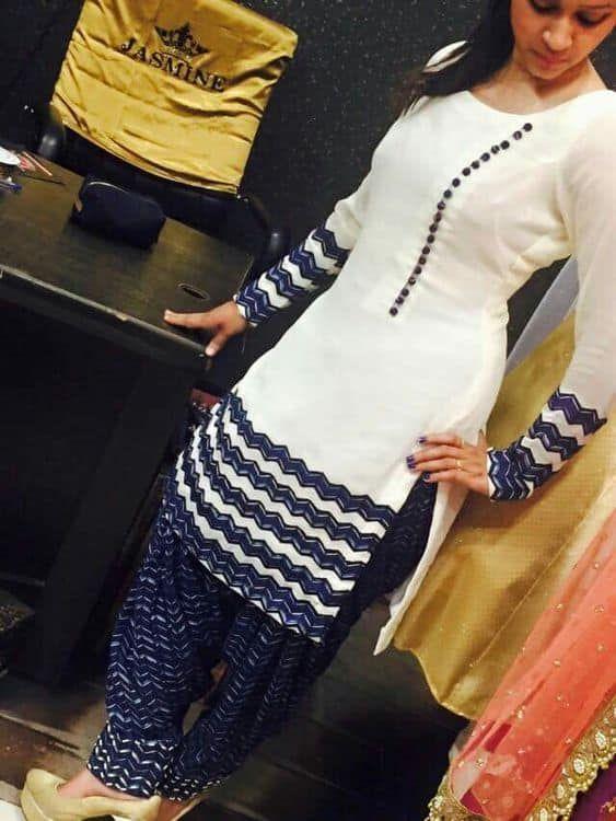 Latest Churidar Neck Models Salwar Patterns (200)