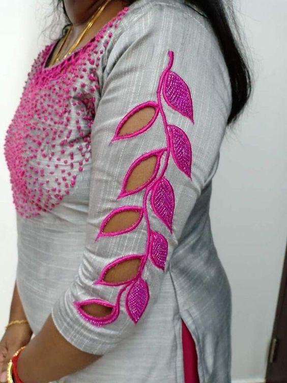 Latest Churidar Neck Models Salwar Patterns (233)