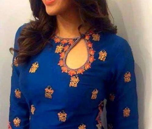 Latest Churidar Neck Models Salwar Patterns (25)