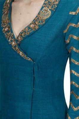 Latest Churidar Neck Models Salwar Patterns (36)