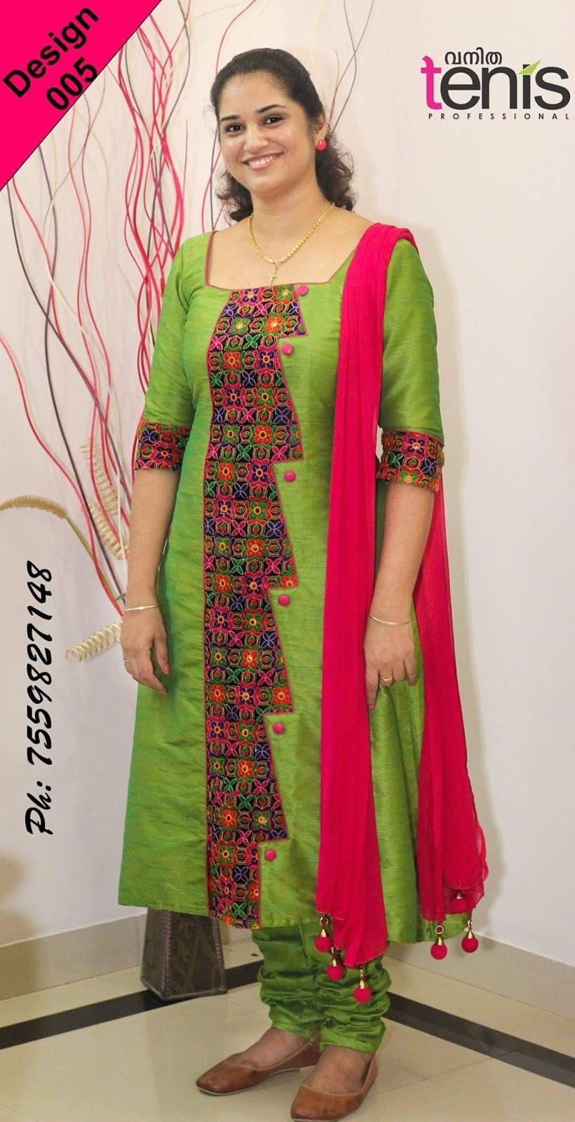Latest Churidar Neck Models Salwar Patterns (70)