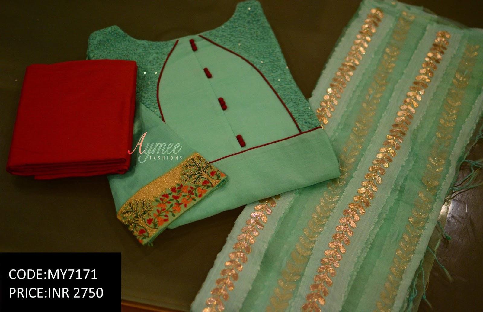 Salwar Kameez Neck Designs Catalogue (232)