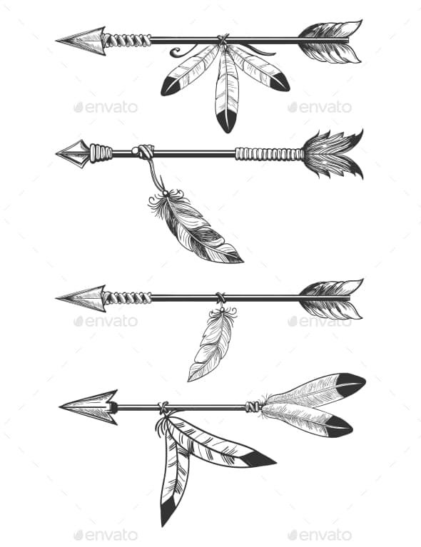 Significado De Tatuajes De Flechas Con Triangulos (107)