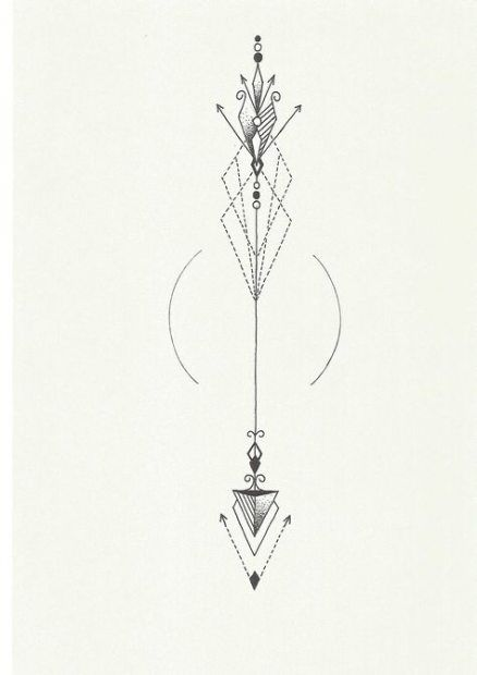 Significado De Tatuajes De Flechas Con Triangulos (130)