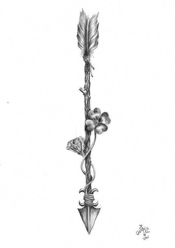 Significado De Tatuajes De Flechas Con Triangulos (138)