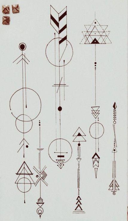 Significado De Tatuajes De Flechas Con Triangulos (159)
