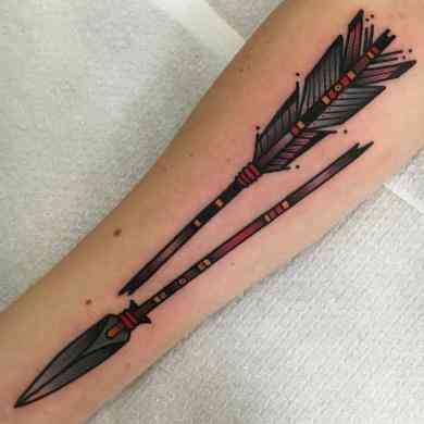 Significado De Tatuajes De Flechas Con Triangulos (193)