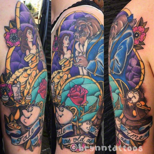 Simple Small Beauty And The Beast Tattoo Designs Ideas (102)