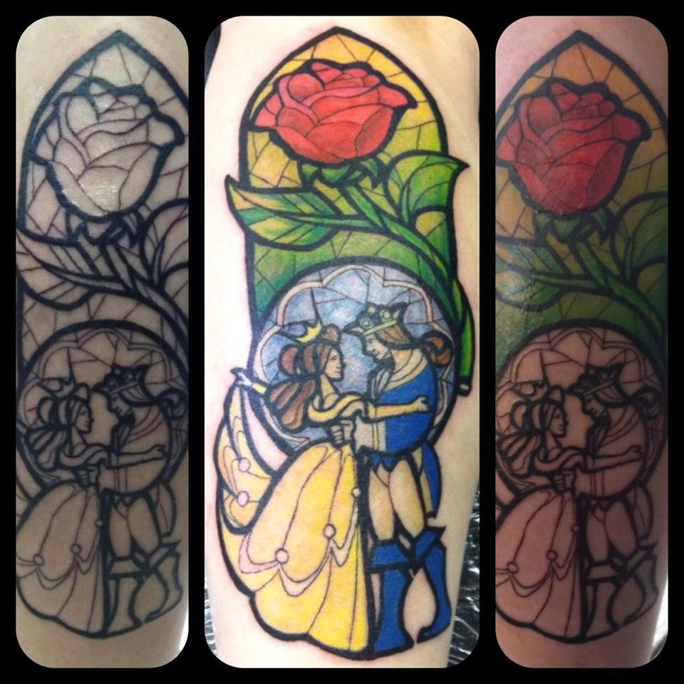 Simple Small Beauty And The Beast Tattoo Designs Ideas (106)