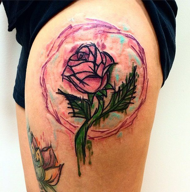 Simple Small Beauty And The Beast Tattoo Designs Ideas (11)