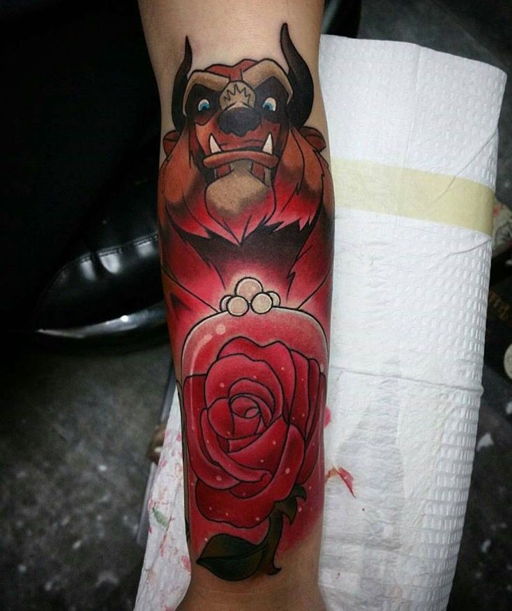 Simple Small Beauty And The Beast Tattoo Designs Ideas (116)