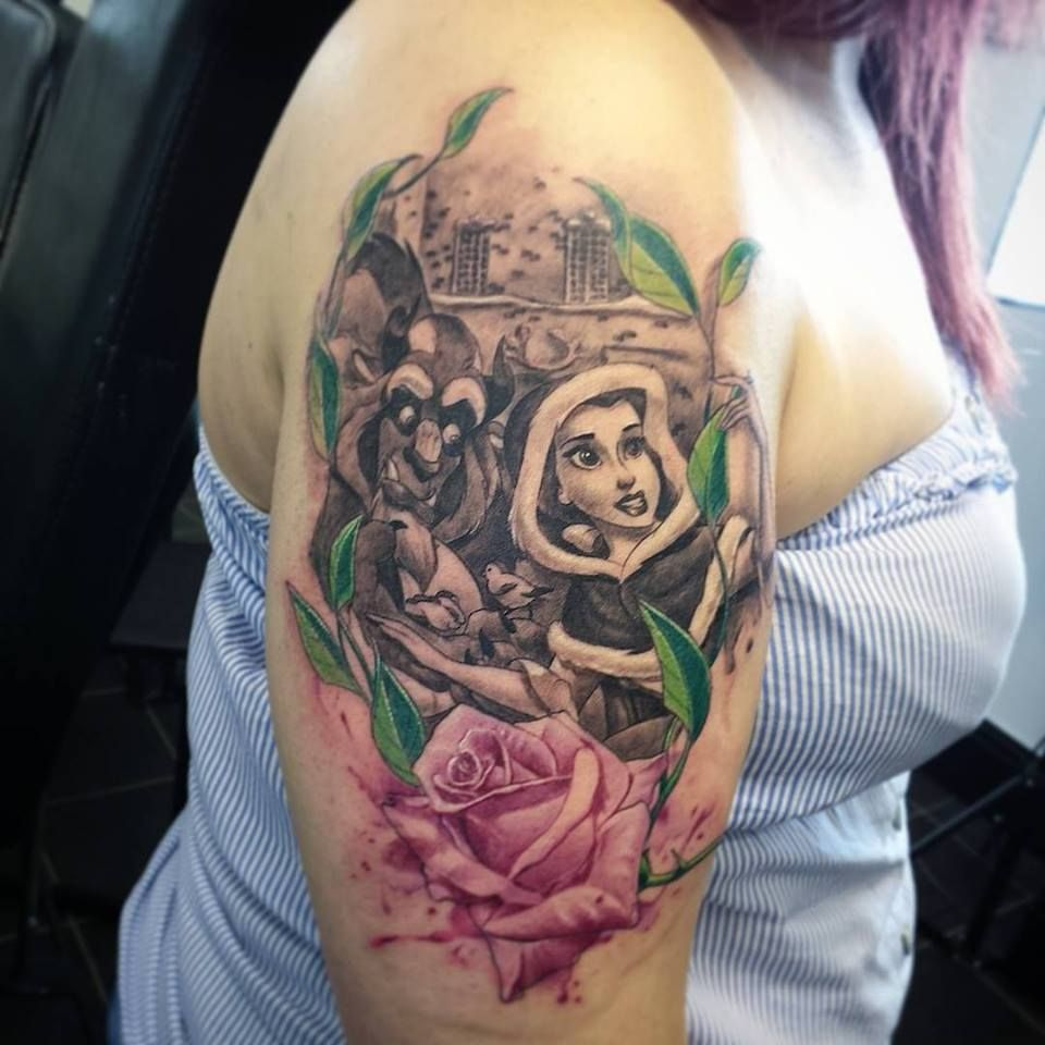 Simple Small Beauty And The Beast Tattoo Designs Ideas (125)