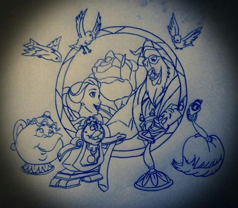 Simple Small Beauty And The Beast Tattoo Designs Ideas (138)