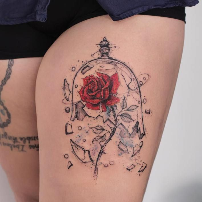 Simple Small Beauty And The Beast Tattoo Designs Ideas (140)