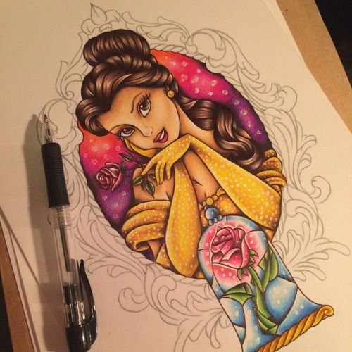 Simple Small Beauty And The Beast Tattoo Designs Ideas (157)