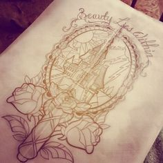 Simple Small Beauty And The Beast Tattoo Designs Ideas (168)