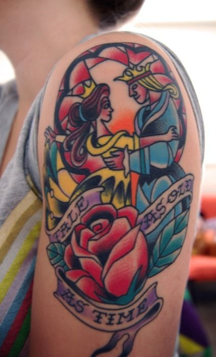 Simple Small Beauty And The Beast Tattoo Designs Ideas (17)