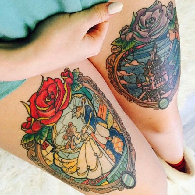 Simple Small Beauty And The Beast Tattoo Designs Ideas (28)