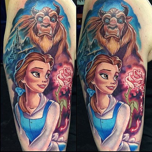 Simple Small Beauty And The Beast Tattoo Designs Ideas (32)