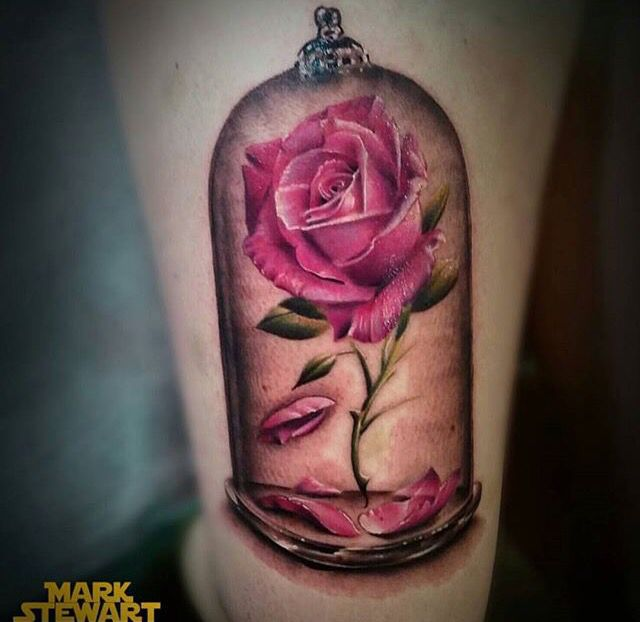 Simple Small Beauty And The Beast Tattoo Designs Ideas (40)