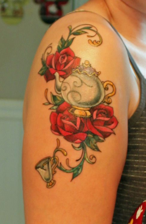Simple Small Beauty And The Beast Tattoo Designs Ideas (46)