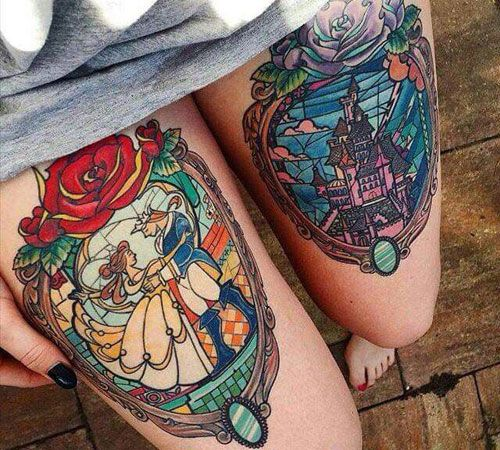 Simple Small Beauty And The Beast Tattoo Designs Ideas (47)