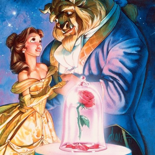 Simple Small Beauty And The Beast Tattoo Designs Ideas (51)