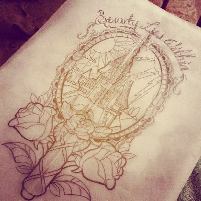 Simple Small Beauty And The Beast Tattoo Designs Ideas (54)