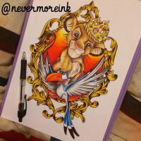 Simple Small Beauty And The Beast Tattoo Designs Ideas (63)