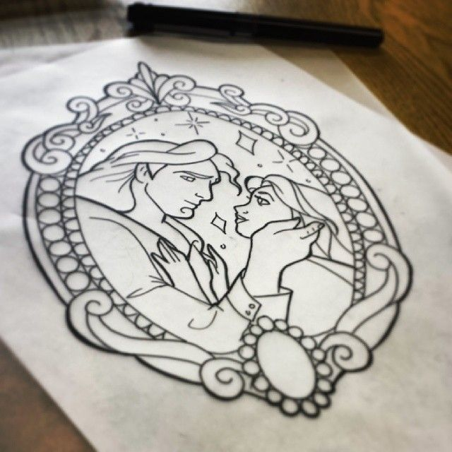 Simple Small Beauty And The Beast Tattoo Designs Ideas (65)