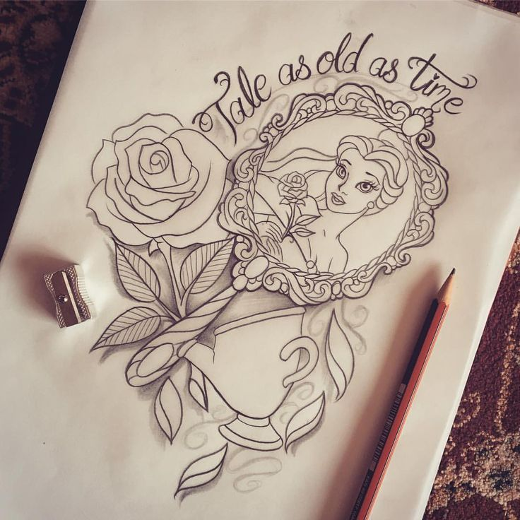 Simple Small Beauty And The Beast Tattoo Designs Ideas (77)