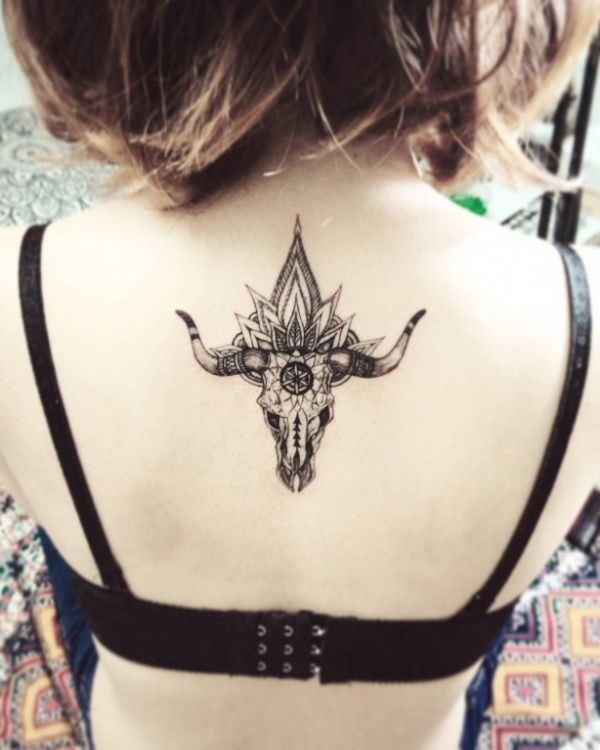 Small Simple Bull Tattoo Designs (1)